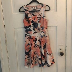 Agnes & Dora Pink, White and Navy Floral Dress